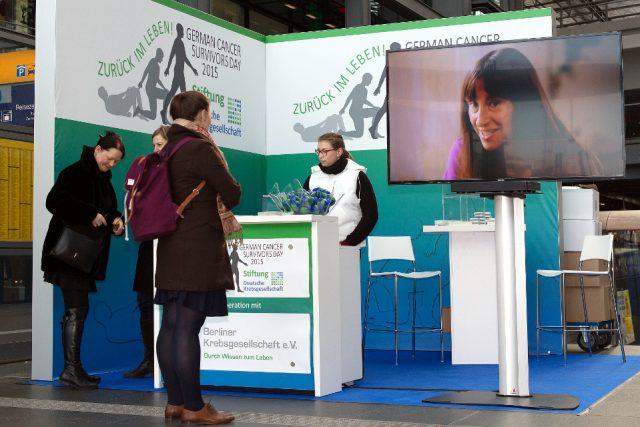 Am Infostand bot die Berliner Landeskrebsgesellschaft Information und Beratung. (Bild: ro-b.com/Photographie)