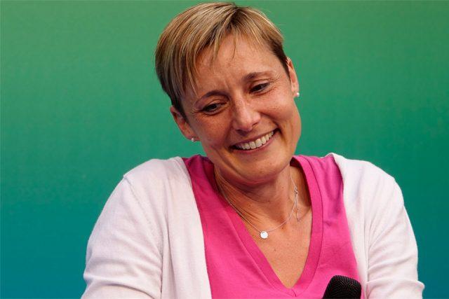 """""""Das Laufen gibt mir Kraft"""", sagt Krebspatientin Steffi rechts über ihre sportliche Leidenschaft. (Foto: Sebastian Röder)"""
