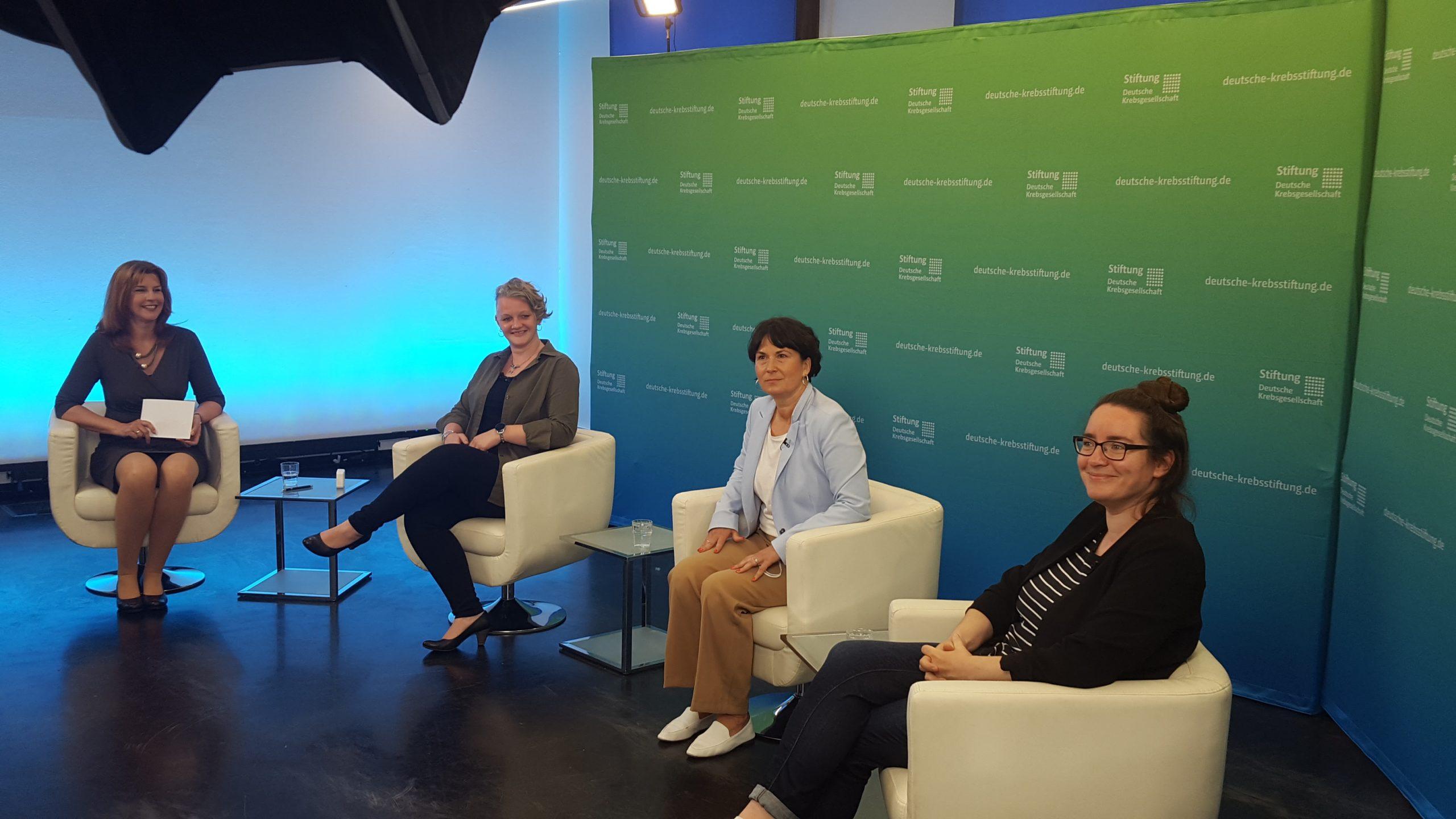 Diskussionsrunde im Live-Stream